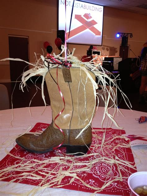 cowboy western party table centerpiece party ideas