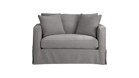 willow grey sofa sleeper with air mattress crate and barrel