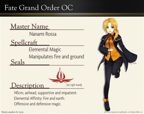 Fate Go Card Template by Fate Grand Order Oc Persona By Azelilia On Deviantart