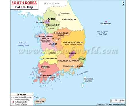 map of korea and surrounding countries buy south korea political map