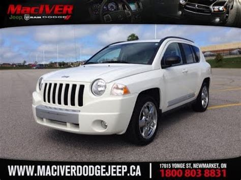 dodge jeep white 2010 white jeep compass limited 4x4 newmarket ontario