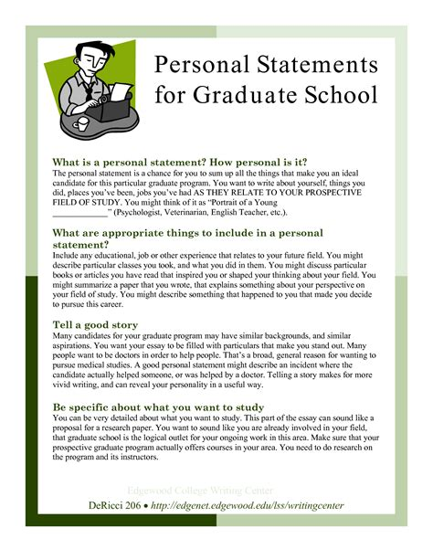 sle personal statements graduate school personal