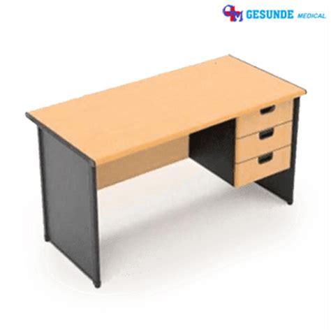 Meja Kantor Biasa jual meja kantor meja kerja kayu 3 laci meja kayu