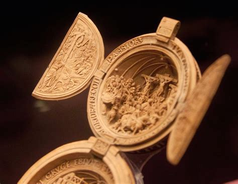intricately carved  century prayer nuts open  reveal