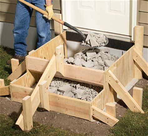 How To Make A Concrete Door Step