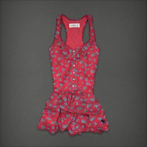 2 Die 4 Abercrombie Fitch Checked Dress by Abercrombie Fitch Floral Tiered Polyester