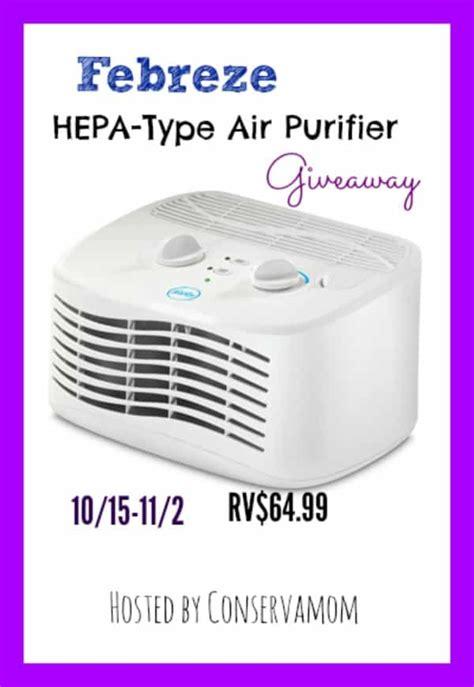 febreze air purifier giveaway tabletop hepa type purifier