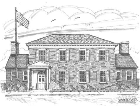 Hyde Park Post Office by Hyde Park Post Office Drawing By Richard Wambach