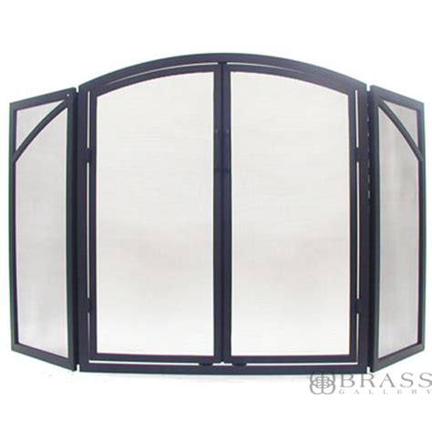 tri fold fireplace screen with doors fireplace screen black brass gallery