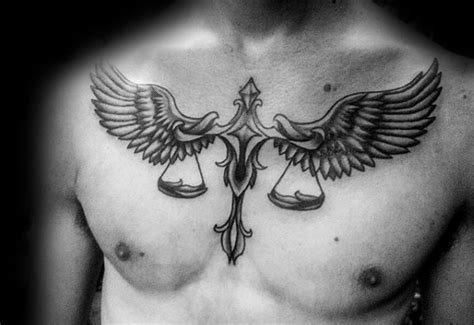 mens chest tattoos designs 60 libra tattoos for balanced scale ink design ideas