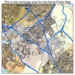aerial photography map of irvine ca california