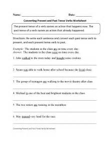 verb tenses worksheets present and past tense verbs