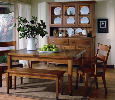 Country Dining Room Tables Introducing The Canterbury Hardwood Country Dining Set Amish Furniture