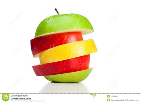 green combination combination of green yellow and red apples stock photo
