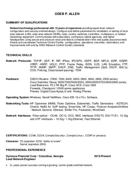 Antenna Test Engineer Sle Resume by Cisco Network Engineer Resume Sle 28 Images Cisco Engineer Resume 20 Images Cv Khouloud