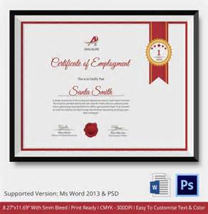 Service Certificate Template For Employees by Employment Certificate 36 Free Word Pdf Documents