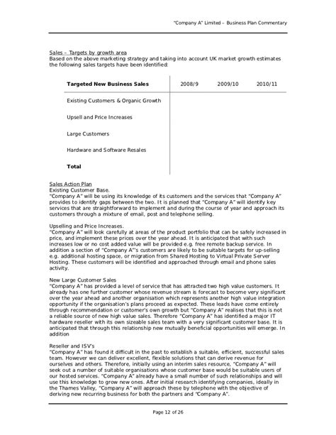 Business Plan Sle Uk Business Form Templates How To Write A Business Template
