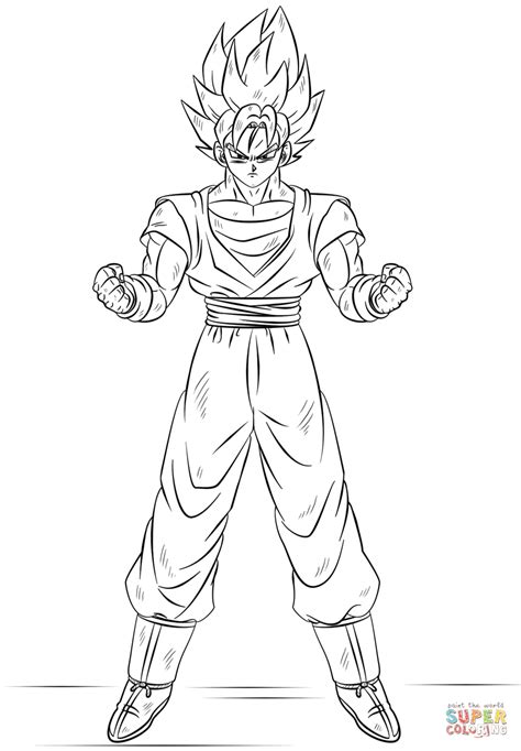 super saiyan god coloring pages coloring pages