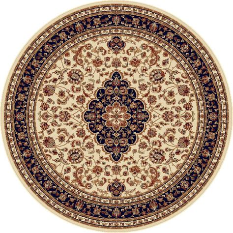 Tayse Rugs Sensation Beige 7 Ft 10 In Round Traditional 7 Ft Rugs