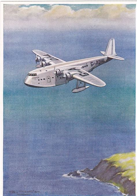 flying boat airplane empire flying boat airplane quot canopus quot 1930s 50s flying