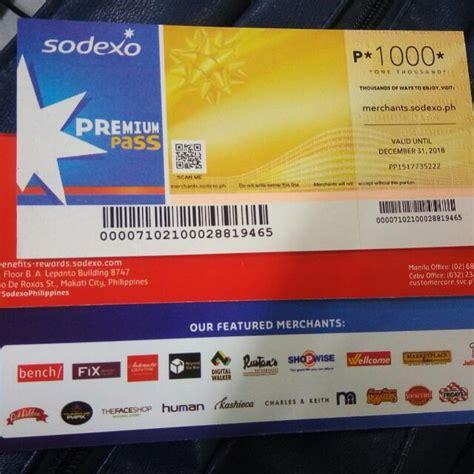 Sodexo Voucher 200 000 sodexo premium pass 1 000 tickets vouchers gift cards