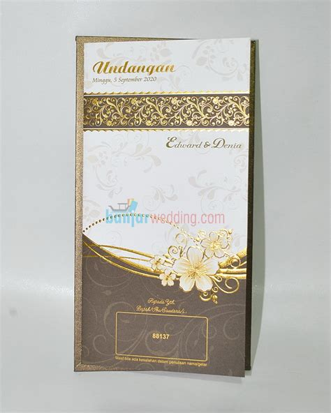 Undangan Semi Cover Murah undangan semi cover elegan eb 88137 banjar wedding banjar wedding
