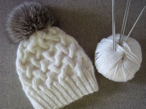knitting hat amurushka my winter cable knit hat