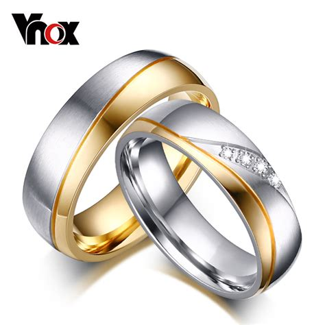 Harga 1 Pcs Cincin Single Ring Silver Gold Emas Wanita Titanium vnox rings for wedding ring gold color 316l stainless steel promise jewelry in rings