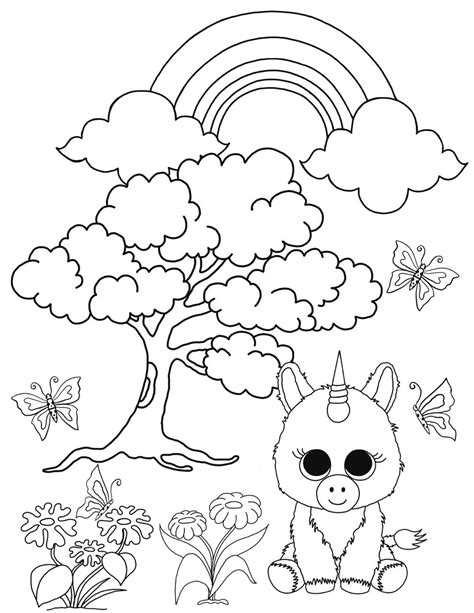 beanie boo coloring pages free beanie boo coloring pages print cats