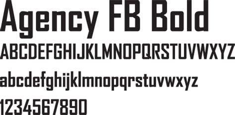 fb font font agency fb