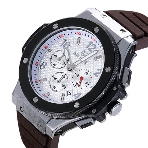 Megir Jam Tangan Analog Ml2015gbn Brown White megir jam tangan analog mn3002 brown white