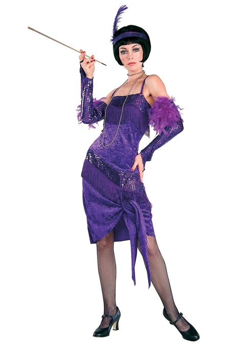 costume flapper flapper roaring costume ideas 1920s era costumes purple flapper costume