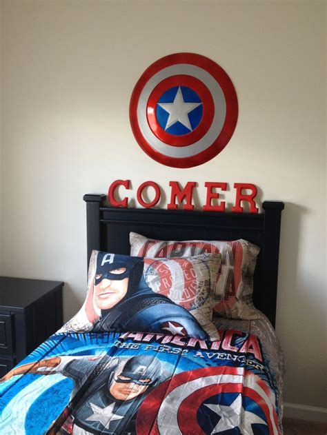 captain america bedroom ideas captain america bedroom captain america room pinterest