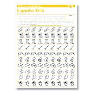 Inspection skills test for the workplace