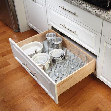 Kitchen Cabinet Drawer Kits by Rev A Shelf Vinyl Peg Board Drawer Organizer System With