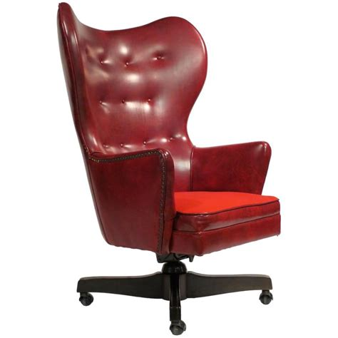 Office Rolling Chairs Design Ideas Leather Wingback Rolling Chair By Schafer Bros At 1stdibs