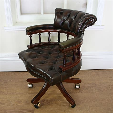 vintage style office furniture antiques atlas style leather revolving office chair