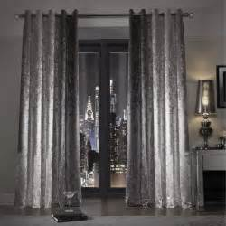 Gray Blue Curtains Designs Minogue At Home Natala Slate Grey Silver Velvet Lined Ready Made Eyelet Ring Top Curtains