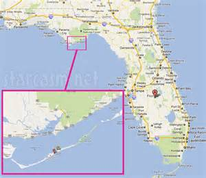 west coast florida islands map