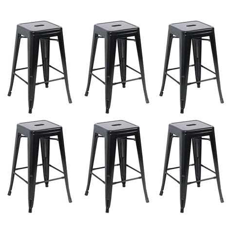 Antique Metal Bar Stools by Metal Bar Stools Set Of 6 Vintage Antique Style Counter
