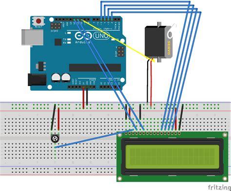Lcd Arduino 2x16 arduino servo and lcd 2x16 biicode docs the code display