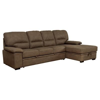 Mibasics Samson Modern Style Pullout Sleeper Sofa Brown Target Sofa Sleeper