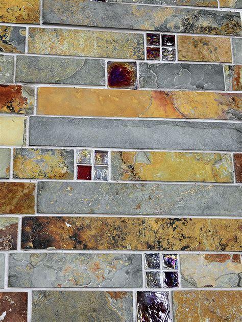 slate mosaic backsplash subway slate glass mosaic kitchen backsplash tile