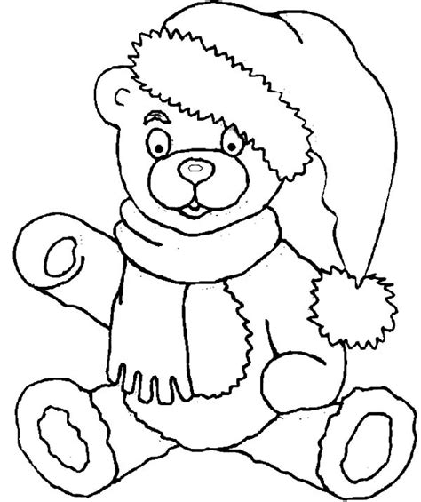 Holidays Coloring Pages Teddy Bear | coloring pages of teddy bears download by santa teddy
