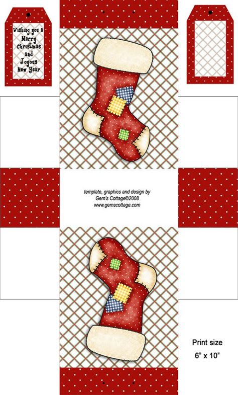printable christmas paper bags freebie christmas boxy treat bag paper boxes christmas