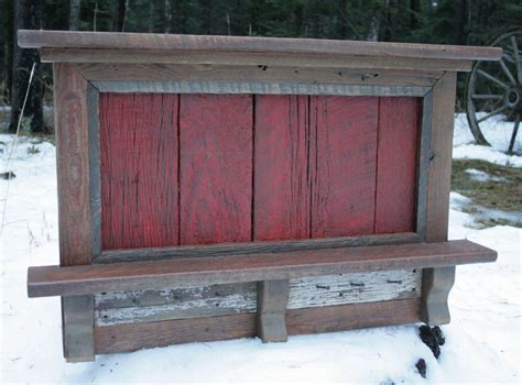 reclaimed rustic three cubby entry rustic reclaimed barnwood entry shelf by echopeakdesign on