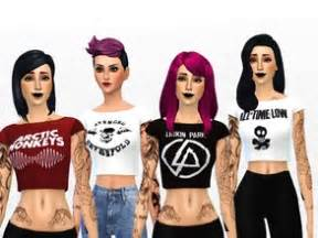T Shirt Alpha Hardrock sims 4 clothing sets band