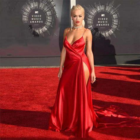 celebrity red carpet dresses kzdress 2015 rita ora red carpet sexy hot red celebrity dresses