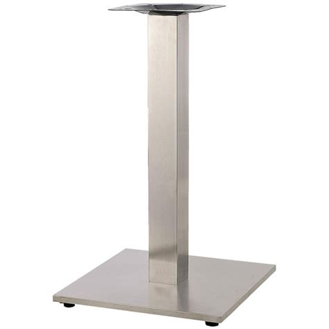 square stainless steel table base 30 quot table height