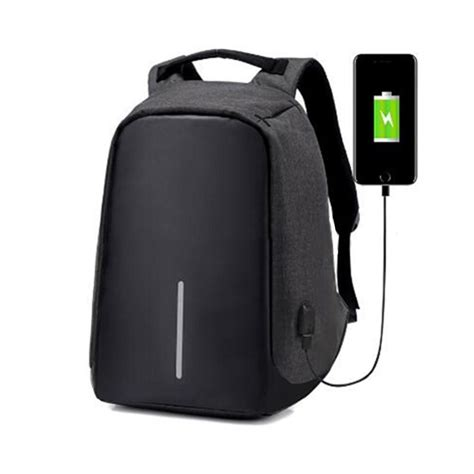 Bag Theft by Canvas Laptop Bag Backpack Usb Port Travel School Bags